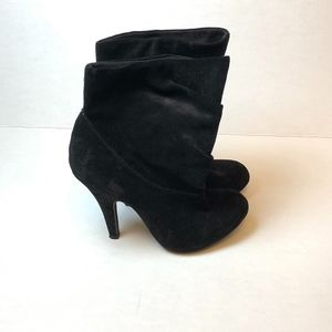 Steve Madden Slouch Suede Heeled Ankle Boot